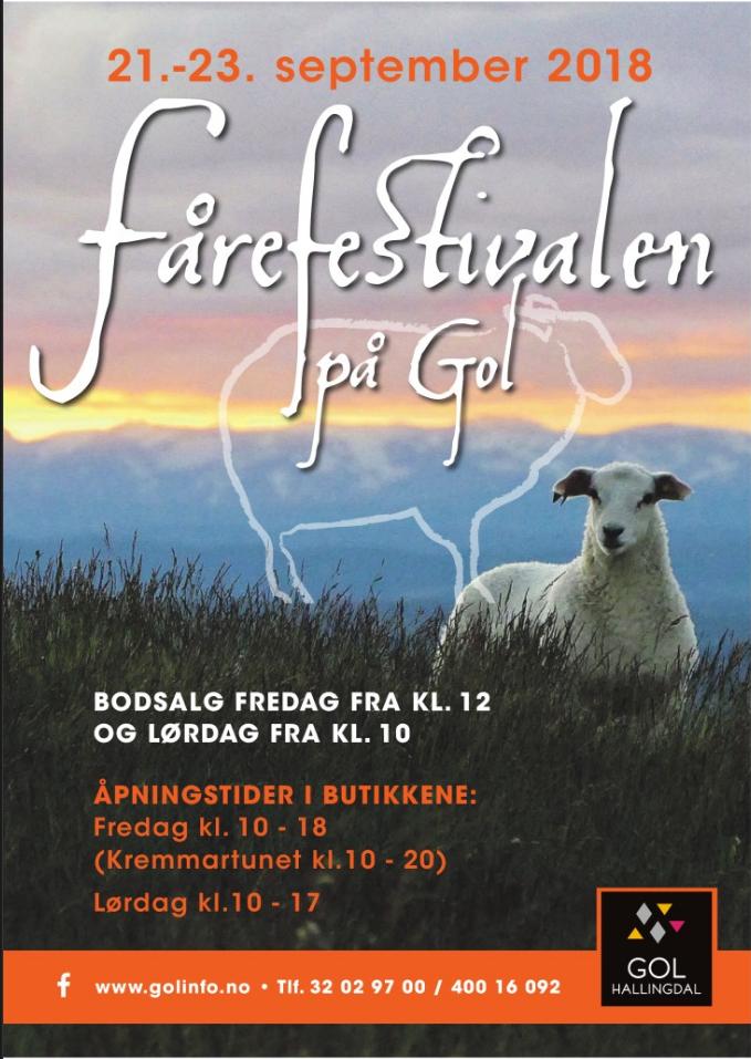 Programe Fårefestivalen(sheep festival)  2018